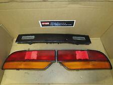 JDM Nissan Silvia 180SX Rear OEM 3PCS Tail Lights / Center Garnish / Brake Lamps