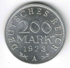 200 Mark 1923 A (Jäger 304)  Weimarer Republik - Stempelglanz