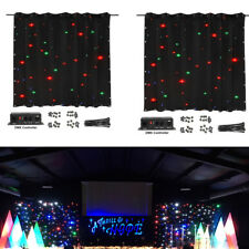 LED Stage Drape Starry Sky Cloth 2x3m Starlit Curtain Backdrop Background 2 Pack