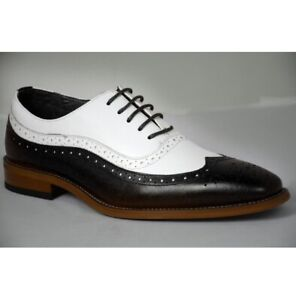 Handmade Men Two Tone Formal Shoes, Spectator Shoes, Dress Shoes