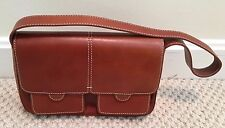 Kenneth Cole Brown Leather Magnetic Snap Flap Handbag