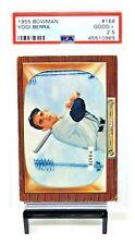 1955 Bowman HOF Yankees Great YOGI BERRA Vintage Baseball Card PSA 2.5 Good +