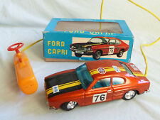 Daiya Ford Capri MK1 Racing Blech Auto Spielzeug Tin Toy 70er Jahre Japan in Box