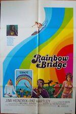 Rainbow Bridge one sheet movie poster 27x41 1972 Jimi Hendrix Surf Rare