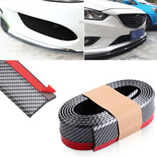 8ft Carbon Fiber Car Front Bumper Lip Splitter Guard Chin Spoiler Wing Body Kit