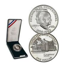 1990-P Eisenhower Centenial Silver Dollar Commemoritive Proof COA *Just Unboxed