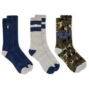 Polo Ralph Lauren Men's 3-Pack Full Camouflage Crew Socks