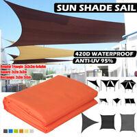 Waterproof Sun Shade Sail Garden Patio Sunscreen Awning Canopy UV Protected UK