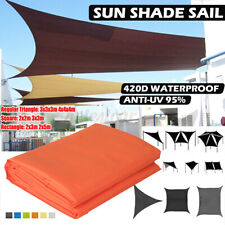 Waterproof Sun Shade Sail Garden Patio Sunscreen Awning Canopy UV Protected UK