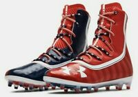 UNDER ARMOUR HIGHLIGHT MC LE FOOTBALL CLEATS 3021191-600 STARS STRIPES MEN 8.5