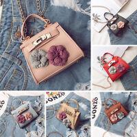 Women PU Leather Satchel Handbag Shoulder Tote Messenger Crossbody Chain Bag New