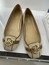 MICHAEL KORS FULTON MOC BALLET Flats, Hemp UK7 US9 BNIB FREE POST