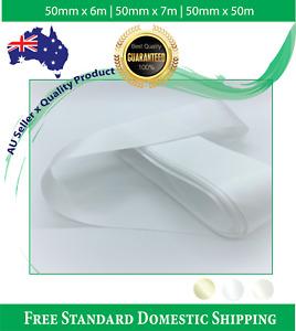 Satin Ribbon White Ivory Double Faced, Decorate Wedding Car 50mm x 6m Flat Pk