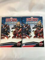 Valentines Day Cards (2 Boxes of 32) Marvel Avengers Captain America Civil War