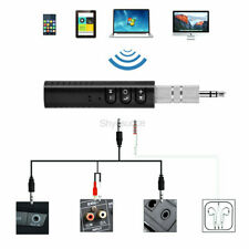 Wireless Bluetooth 4 Receiver 3.5mm AUX Audio HIFI Music Adapter For Car Speaker