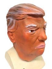 American President Donald Trump Celebrity Latex Mask Tanned Fancy Dress Costume