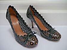 ALAIA black patent leather cutout detail pumps heels size 37 WORN TWICE