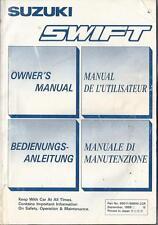 SUZUKI SWIFT Betriebsanleitung 1988 Manuale di Manutenzione Owner´s Manual .. BA