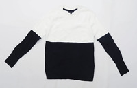 Topshop Womens Size 6 White Black Jumper (Petite)