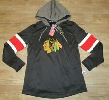 Adidas Chicago Blackhawks Platinum Hoodie Jersey Jacket Women's Medium MSRP $90