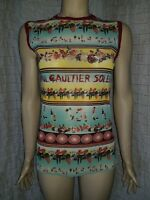 Jean Paul Gaultier Soleil sleeveless tulle top size XXL