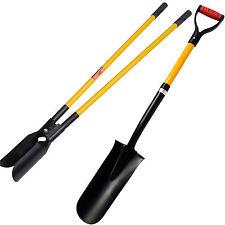 More details for new fibreglass handle drain spade and post hole digger shovel twin shovel set