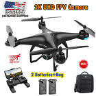 Holy Stone HS120D FPV GPS with Camera 2K UHD Quadcotper 2 Battery + Bag RC Drone