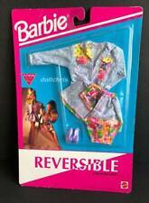 1992 Barbie Doll Reversible Fashions Mattel 865 MOC Skirt Top Jacket Shoes Denim