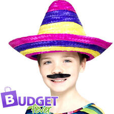 Mexican Sombrero Kids Fancy Dress National Wild Western Childrens Costume Hat