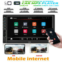 SWM 7in 2DIN Car Stereo MP5 Player BT USB FM Radio Mirror Link for Apple Android