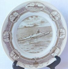 Vtg Us Navy Uss Enterprise Wedgwood Commemorative Transferware Plate