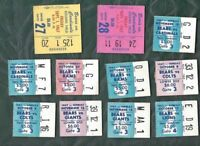 1967 football ticket stub lot of 11 Chicago Bears v Lions Giants Colts Rams