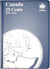 CANADIAN QUARTER / 25¢ UNI-SAFE BLUE COIN FOLDER PROTECTOR - 4 PAGES 2000-DATE