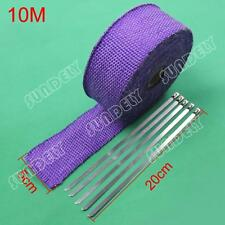 PURPLE HEAT WRAP EXHAUST MANIFOLD 50MM x 10M + 5 CABLE TIES 20CM NEW!