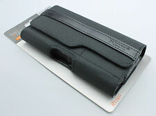 REIKO Horizontal Rugged Case Cover Pouch Clip Belt Loops w / Two Card Pockets