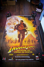 INDIANA JONES Style A 4x6 ft Bus Shelter D/S Movie Poster Original 2008
