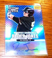 RYDER JONES Blue Prizm Autograph #74/75 - Giants Rookie