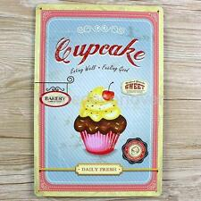 Tin Sign Vintage Style Wall Art Poster Plaque Cupcake Metal Decor 20x30cm