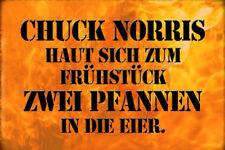 Chuck Norris Spruch 11 Blechschild Schild gewölbt Metal Tin Sign 20 x 30 cm