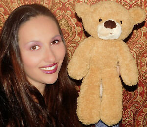 "Gund FUZZY BEAR 14"" Brown Tan Plush #320116 Floppy Stuffed Animal Toy LOVEY SOFT"