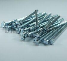 Vis tête cylindrique M3x50mm acier galva bleu fente DIN84 Reisser (lot de 40)
