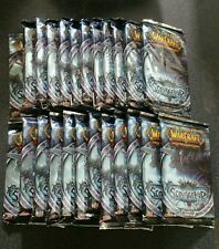 World of Warcraft Scourgewar Sealed Booster Pack box lot 24 packs sealed