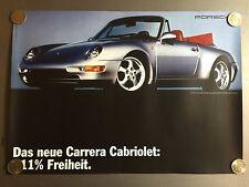 1993 Porsche 911 (Type 993) Cabriolet Showroom Advertising Sales Poster Reprint