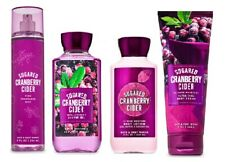 4 Piece Bath & Body Works Sugared Cranberry Cider Set- Lotion, Gel, Cream, Mist