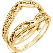 10K Yellow Gold Metal Wrap-Style Guard Enhancer Engagement Bridal Wedding Ring