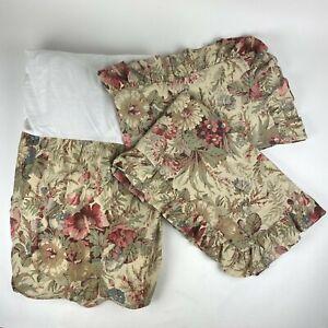 Lauren Ralph Lauren Coastal Gardens King Dust Ruffle Bed Skirt w/ 2 Shams Floral