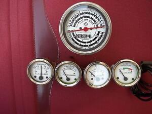 Allis Chalmers Tachometer+Temp+ Oil Pr+ Fuel+Amp Gauge Set-D14, D15, D17 Gas