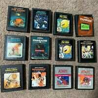 Atari 2600 Video Games Lot Of 12 Missing End Labels. All Tested and Working.