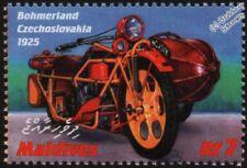 1925 BOHMERLAND 600cc (Czechoslovakia) Motorcycle Motorbike & Sidecar Stamp