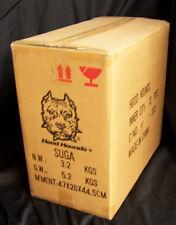 "12 Pc Master Case Hood Hounds Bobble Head SUGA BEAR Rott weiler Dog 7"" Wholesale"
